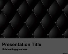 Dark Cushion PowerPoint template is a nice template for PowerPoint with cushion effect in dark background