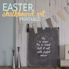 it's always autumn - itsalwaysautumn - Easter chalkboard artprintable