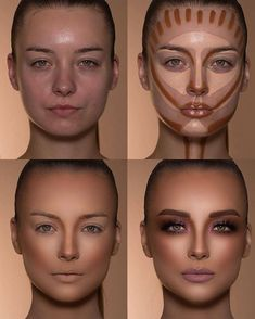 How To Do Make-up – Step By Step Ideas For The Good Look Spotlight contour hypnaughty.make-up samer khouzami mild pores and skin Makeup Contouring, Contouring And Highlighting, Skin Makeup, Highlight Contour Makeup, Makeup Cosmetics, Makeup Eyeshadow, Contour Nose, Drugstore Makeup, Makeup Eyebrows