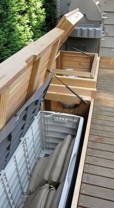 Built - in bench with storage - patio furniture and outdoor furniture - seattle ., im garten frame Built - in bench with storage - patio furniture and outdoor furniture - seattle . Deck Bench Seating, Outdoor Seating, Seating Areas, Patio Bench, Built In Garden Seating, Bench Swing, Deck Ideas With Built In Seating, Timber Bench Seat, Banquette Seating