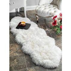Longwool Sheepskin Rug - Double - Ivory White 2x6  Sale:$89.99 & FREE Shipping You Save:$100.00 (53%)