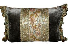 Antique Silk  pillow
