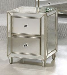 Mirrored Furniture Mirror Drawer Chest, Hammary, Hidden Treasures Collection | Home Gallery Stores
