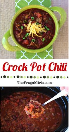 Slow Cooker Chili Recipe! ~ from TheFrugalGirls.com ~ this fabulous chili is so EASY to make, and the perfect Crock Pot meal for chilly evenings or game day parties! #slowcooker #recipes #thefrugalgirls
