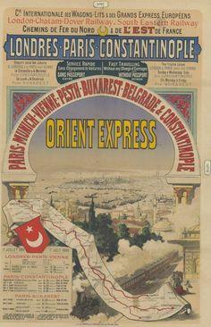 Londres-Paris-Constantinople...Orient-Express. Paris-Munich-Vienne-Budapest-Belgrade & Constantinople  service rapide sans changement de voiture, sans passeport... Hiver 1888-89