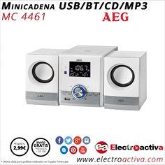 ¡Compacta,potente y de diseño! Minicadena AEG CD/MP3/USB/BT MC4461 http://www.electroactiva.com/aeg-minicadena-cd-mp3-usb-bt-mc4461-blanco.html #Elmejorprecio #Minicadena #Electroncia #PymesUnidas