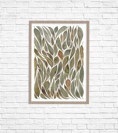 A collection of gum leaves collected on a walk around my family farm in Northern Victoria inspired this watercolour artwork. Leaf Illustration, Watercolor Artwork, Leaf Art, Fine Art Paper, Fine Art Prints, Tapestry, Leaves, Graphic Design, A2 Size