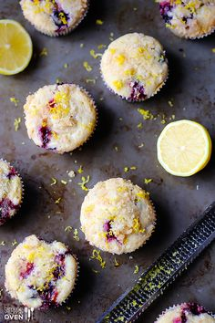 Lemon Blueberry muffins a quick and easy breakfast in bed idea for Mother's Day.