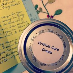 Critical Care Cream plus recipe for healing salve Essential Oil Uses, Doterra Essential Oils, Young Living Essential Oils, Diy Lotion, Homemade Beauty Products, Beauty Recipe, Oils For Skin, Diy Skin Care, Critical Care