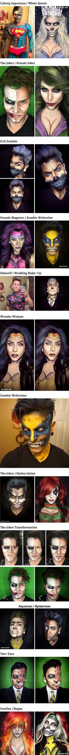 The Artist Turns Himself Into Marvel And DC Characters Using Only Makeup | DailyFailCenter