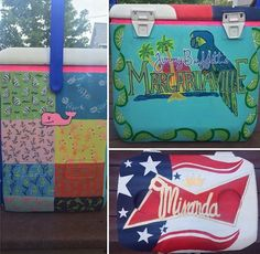 Side, back, and top of my painted cooler
