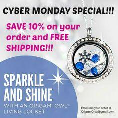 Origami Owl Special!!!