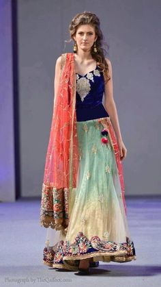 Pure Elegance NY Fashion Week Our Spotlight Vendor Pure Elegance showcased a fantastic collection during New York Couture Fashion . Ethnic Fashion, Asian Fashion, Girl Fashion, Indian Attire, Indian Wear, Indian Style, Indian Wedding Outfits, Indian Outfits, Saris