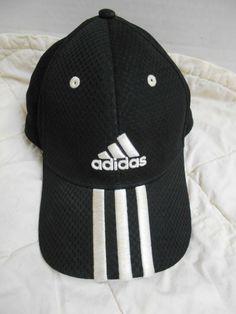 533974a3e01 Adidas Black Baseball Cap Hat Adjustable Velcro Closure Unisex USA