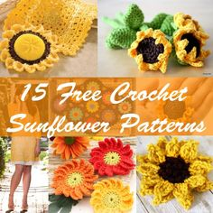 Still looking for something to crochet for Spring? Why not try to crochet these Crochet Sunflower Patterns. All this lovely crochet patterns are absolutely free. 1. This very lovelySunflower / Son…
