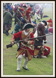 The Battle of Prestonpans - part of the Jacobite rebellion of 1745 and re-enacted by modern day warriors every year!