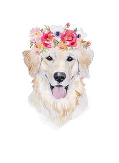 8 x 11 inches Printed on heavy 110 lb archival paper Artist signature on back of print Animal Paintings, Animal Drawings, Art Drawings, Watercolor Animals, Watercolor Print, Golden Retriever Art, Best Friends Pets, Dog Portraits, Dog Art