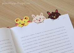 DIY bookmark idea: pasandolopipa: Punto de libro DiY - I so love the theeth