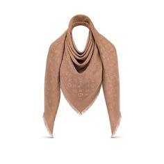 c4d9aac01fbb1 Les collections de Louis Vuitton   Châle Monogram. Vue 1 - Cadeau Noël de  luxe pour Femme - Accessoires Châles et Écharpes ...