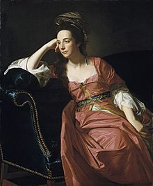 Margaret Kemble Gage, circa 1771. She was suspected by some of her contemporaries and by later historians of harbouring sympathies for the Patriot cause, and of supplying intelligence to Patriot leaders.
