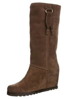 Wedge boots - brown