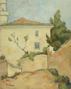 Mosque in Balcic - Nicolae Tonitza Art Database, Oil Painting Reproductions, Sculpture, Lovers Art, Landscape Paintings, Landscapes, Cool Art, Awesome Art, Images
