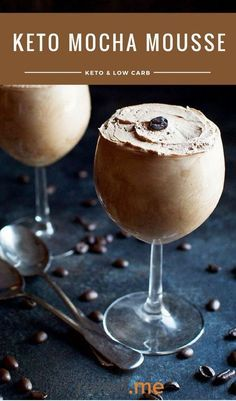 A rich keto mocha mousse that is chocolate and coffee flavored. This is an easy and delicious dessert idea. #ketodiet #ketorecipes #ketogenicdiet