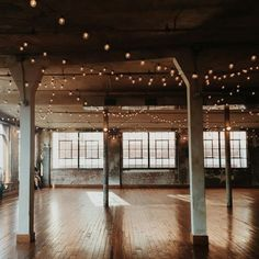 Industrial loft space with veranda lights