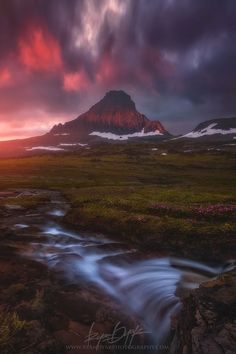 The Calm Before, Mount Reynolds and Reynolds Creek, Glacier National Park, Montana •  Ryan Dyar