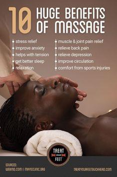 10 Huge Benefits Of Massage! Learn More: https://www.treatyourfeetbuckhead.com via @tyfbuckhead