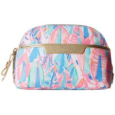 Lilly Pulitzer Shore Cosmetic Bag (Multi Out To Sea) Cosmetic Case ($38) ❤ liked on Polyvore featuring beauty products, beauty accessories, bags & cases, travel bag, purse makeup bag, toiletry bag, makeup purse and makeup bag case