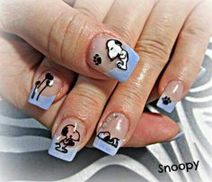 Snoopy nails                                                                                                                                                                                 More