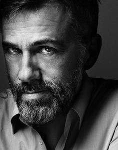 Christoph Waltz, photograph by Marco Grob. May be one of the 10 greatest actors in the U.S., evah!