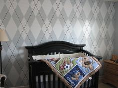Argyle Wall - wall paint