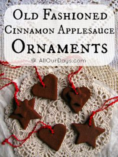 Cinnamon Applesauce Ornament & Garland Tutorial @ AllOurDays.com #handmadechristmas #kidscrafts