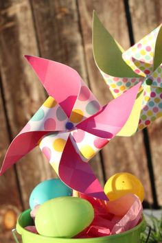 Spring time pinwheels!  @Laura Ferrari