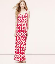 LOFT - Wanderlust Maxi - Add my white hat and great heels and a perfect outfit for Derby Day!