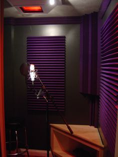 Purple vocal booth
