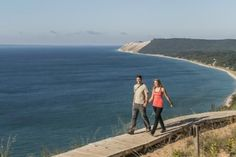 Empire Bluff Trail at the Sleeping Bear Dunes National Lakeshore is one of Prevention Magazine's 10 Best Walks in America. Read more to learn why.