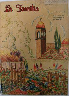 Vintage Mexican Magazine.Revista antigua Mexicana. México.Vintage home and fashion magazine.1940s magazine.Revista La Familia.Collectible.