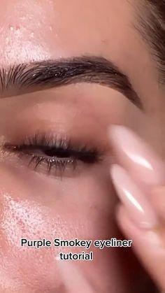 Face Makeup Tips, Eye Makeup Steps, Kiss Makeup, Cute Makeup, Pretty Makeup, Makeup Ideas, Smokey Eyeliner, Eyeliner Looks, Gel Eyeliner
