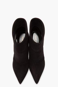 Saint LAURENT | Suede Paris P 80 Slouch Boots