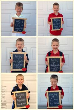 Make this DIY Back to School Chalkboard Sign for the cutest first day of school pictures! Via @addicted2diy1