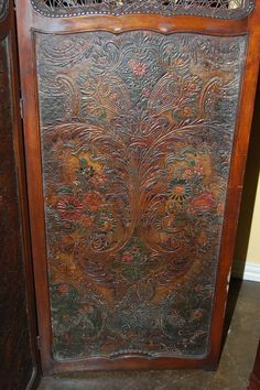 French Embossed Leather Screen