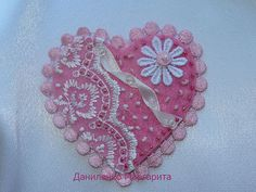Felt brooch. Lace brooch. Gift for her. French by CrochetedStories