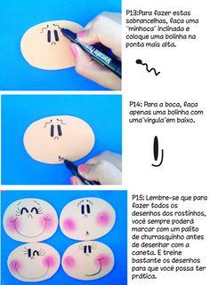 Criatividade com Carinho!!!: Como desenhar o rostinho em Fofuchas