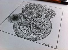 A close-up of my mandala drawing