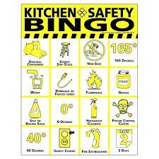 Food Safety Bingo Game Safety Pinterest Food Safety