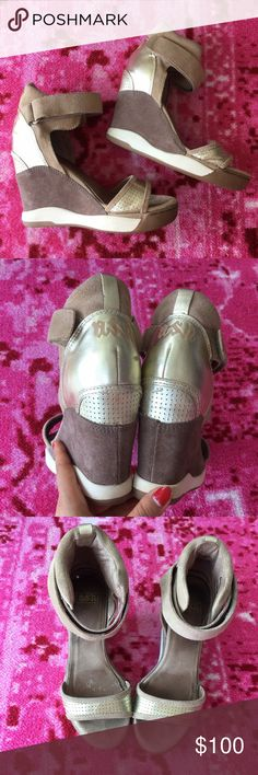 Ash sneaker heels sandals Great price, ok condition. Size 37. Check my closet, bundle for discount! Like the item not the price, submit an offer through offer button. ash Shoes