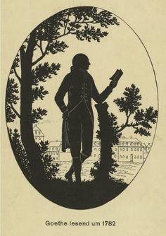 Goethe - Drawings and etchings. Johann Wolfgang Von Goethe, Vintage Couture, New York Public Library, American Revolution, Wall Collage, Paper Cutting, Creative Art, Silhouettes, Fashion Art